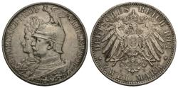 World Coins - German States, Prussia. Wilhelm II. 1901-A. 2 mark. 200th anniversary of the Kingdom of Prussia. EF.