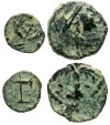 """Ancient Coins - [Miscellaneous]. Lot of two Caesarean(?) """"minims""""."""
