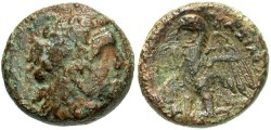 Ancient Coins - Ptolemaic Kingdom. Ptolemy II Philadelphos. 285-246 B.C. Æ. Alexandria. VF, green patina, a little rough.