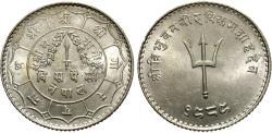 World Coins - Nepal, Shah Dynasty. Tribhuvana Bir Bikram. VS 1989 (1932). 20 paisa. BU.