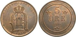 World Coins - Sweden. Oscar II. 1889. 8 öre. AU, small lettering.