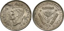 World Coins - South Africa. George VI. 1942. 3 pence. Unc.