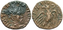 Ancient Coins - 'Barbarous' radiate. Ca. late 3rd century A.D. Æ. VF, brown surfaces, light porosity.