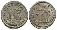 Ancient Coins - Constantine I. A.D. 307/10-337. ' follis. Arelate, A.D. 316. Good VF, red-brown patina with faint silvering.