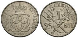 World Coins - Danish West Indies. Christian IX. 1905-(h). 5 cents. AU.