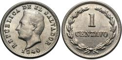 World Coins - El Salvador. 1940-(P). 1 centavo. BU.