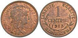 World Coins - France, Third Republic. 1913. 1 centime. Unc.
