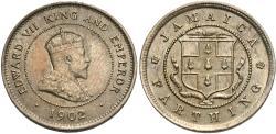 World Coins - Jamaica. Edward VII. 1902. 1 farthing. Unc.
