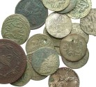 World Coins - [Islamic and Modern]. Lot of twenty-one AR, BI and Æ.