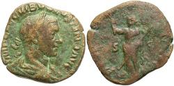 Ancient Coins - Volusian. A.D. 251-253. Æ sestertius. Rome, A.D. 252. VF/Fine, brown patina.
