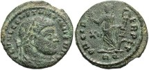 Ancient Coins - Constantine I. A.D. 307/10-337. Æ 1/2 follis. Rome, A.D. 312-313. Nearly VF, green patina, porous. Scarce.