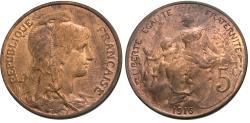 World Coins - France, Third Republic. 1916-(star). 5 centimes. Madrid. BU.
