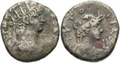 Ancient Coins - Egypt, Alexandria. Nero. A.D. 54-68. BI tetradrachm. Regnal year 12 (A.D. 65/6). Near VF.