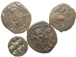 Ancient Coins - [Byzantine]. Lot of four Æ.