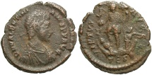 Ancient Coins - Valentinian II. A.D. 375-392. Æ. Thessalonica. Fine, brown patina.