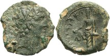 Ancient Coins - Seleukid Kingdom. Alexander I Balas. 152/1-145 B.C. Æ 20 mm. Berytos. VF, rough green patina.
