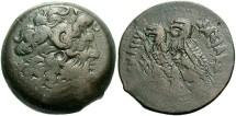 Ancient Coins - Ptolemaic Kingdom. Ptolemy VI Philometor. 180-145 B.C. Æ. Alexandria, after 169 B.C. VF, brown patina.