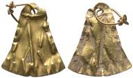 Ancient Coins - Phoenician. 2nd century B.C.-1st century A.D. Gold lotus pendant.