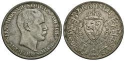 World Coins - Norway. Haakon VII. 1917. 2 kroner. VF.