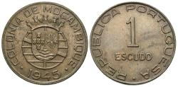World Coins - Mozambique. 1945. 1 Escudo. AU.