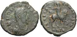 Ancient Coins - Honorius. A.D. 393-423. Æ. Antioch. Fine, dark green patina.