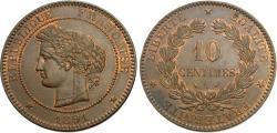 World Coins - France, Third Republic. 1891-A. 10 centimes. Unc.