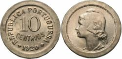 World Coins - Portugal. 1920. 10 centavos. Choice BU.