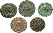Ancient Coins - [Roman Provincial and Imperial]. Lot of 5 Æ.