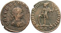 Ancient Coins - Crispus. Caesar, A.D. 317-326. Æ follis. Aquileia. Near VF, brown surfaces.