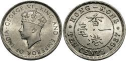 World Coins - Hong Kong. George VI. 1937. 10 cents. Gem BU.