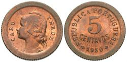 World Coins - Cape Verde. 1930. 5 centavos. Choice BU.