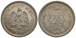 World Coins - Mexico, United States of Mexico. 1905. 20 centavos. BU, strong luster.