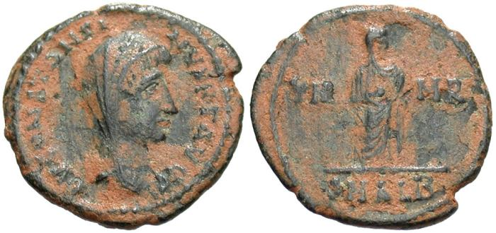 Ancient Coins - Divus Constantine I. Died A.D. 337. Æ. Alexandria. VF, earthen brown patina.