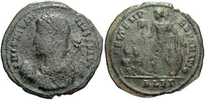 Ancient Coins - Constantius II. A.D. 337-361. Æ centenionalis. Alexandria. Fineq, green patina.