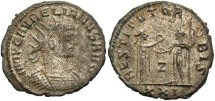 Ancient Coins - Aurelian. A.D. 270-275. Æ aurelianianus. Antioch. VF, silvered.