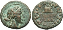 Ancient Coins - Phoenicia, Sidon. Pseudo-autonomous issue. 2nd century A.D. Æ. VF, brown patina with sandy green highlights.