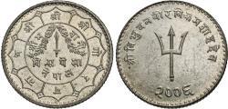 World Coins - Nepal, Shah Dynasty. Tribhuvana Bir Bikram. VS 2006. 20 paisa. Unc., a couple of faint hairlines.