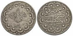 World Coins - Turkey. Muhammad V. AH 1327//4. 10 kurush. VF, toned.