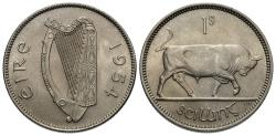 World Coins - Ireland. 1954. 1 shilling. Gem BU.