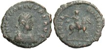 Ancient Coins - Honorius. A.D. 393-423. Æ. Antioch. Good Fine, brown patina.