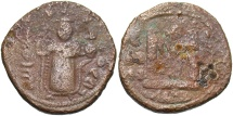 World Coins - Arab-Byzantine. Æ fals. Fine, brown patina, roughness.