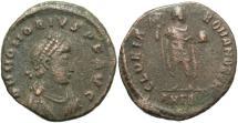 Ancient Coins - Honorius. A.D. 393-423. Æ. Antioch. Fine, brown patina.