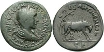 Ancient Coins - Pisidia, Antioch. Gordian III. A.D. 238-244. Æ 33 mm. Nearly VF, dark gray-brown surfaces.