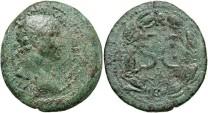 Ancient Coins - Syria, Seleucis and Pieria. Antiochia ad Orontem. Trajan. A.D. 98-117. Æ as. VF, green patina.