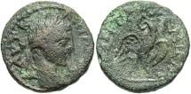 Ancient Coins - Syria, Seleucis and Pieria. Emisa. Elagabalus. A.D. 218-222. Æ 18 mm. Near VF, dark green patina.