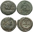 Ancient Coins - [Roman Imperial]. Lot of two late Roman Æ.