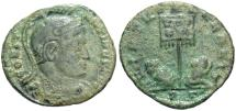 Ancient Coins - Constantine I. A.D. 307/10-337. Æ follis. Ticinum. Near VF, green patina.