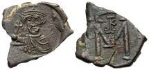 Ancient Coins - Constans II. 641-668. Æ follis. Syracuse. 647/8. EF, brown patina.