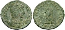 Ancient Coins - Helena. Mother of Constantine I. Æ reduced follis. Siscia. VF.