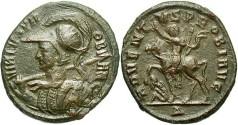 Ancient Coins - Probus. A.D. 276-282. Æ aurelianianus. Cyzicus. VF, brown patina, some scratches.